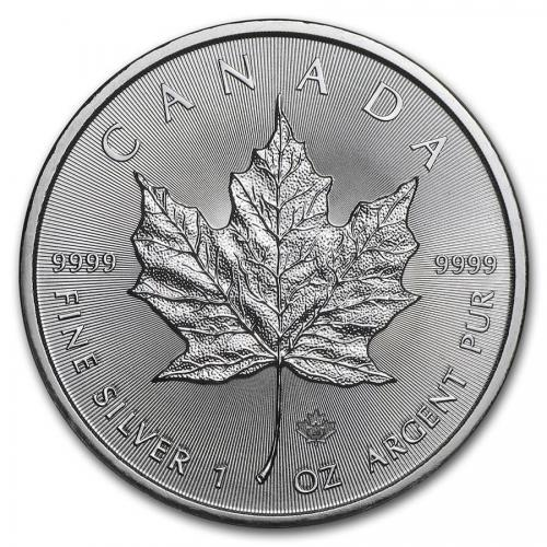 1 oz Maple leaf 5 dollars canada 2021 argent pur