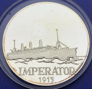 Médaille Argent - Navire, Imperator 1913