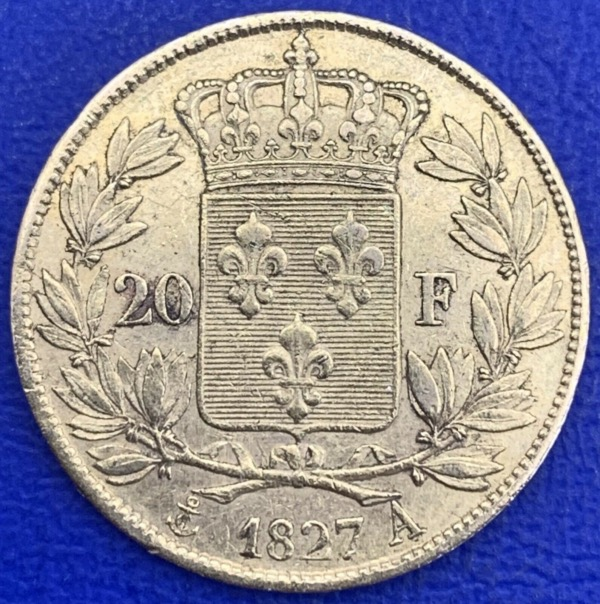 20 Francs or Charles X 1827 A